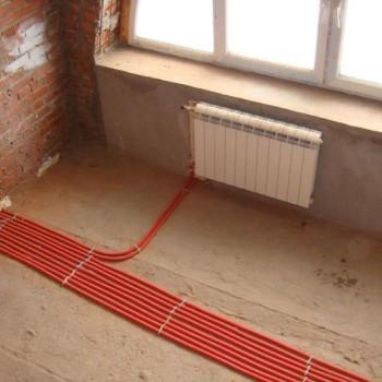 Монтаж системы отопления (лучевая)